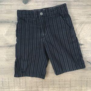 Micros 5 shorts black & gray striped shorts